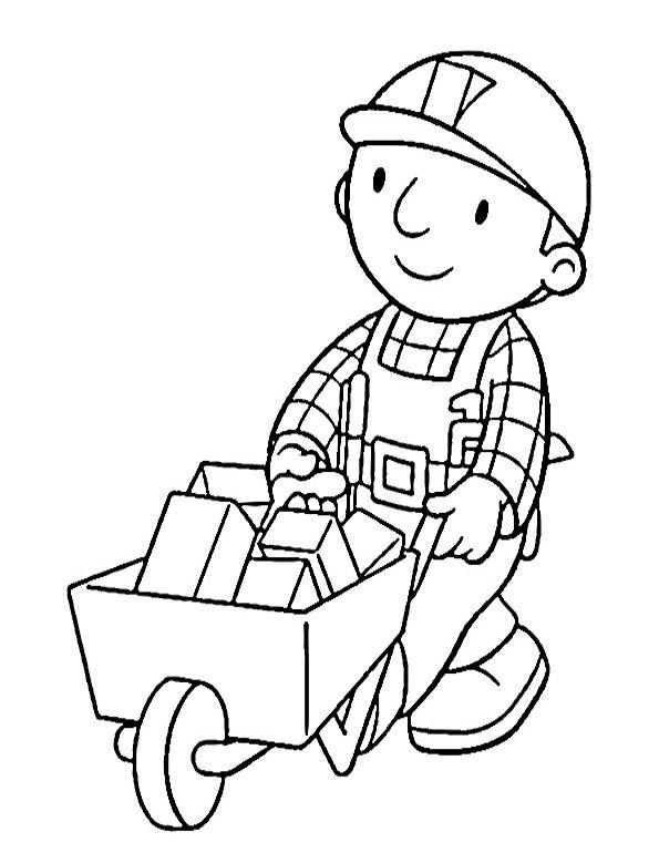 Распечатать раскраски для мальчиков боб строитель
