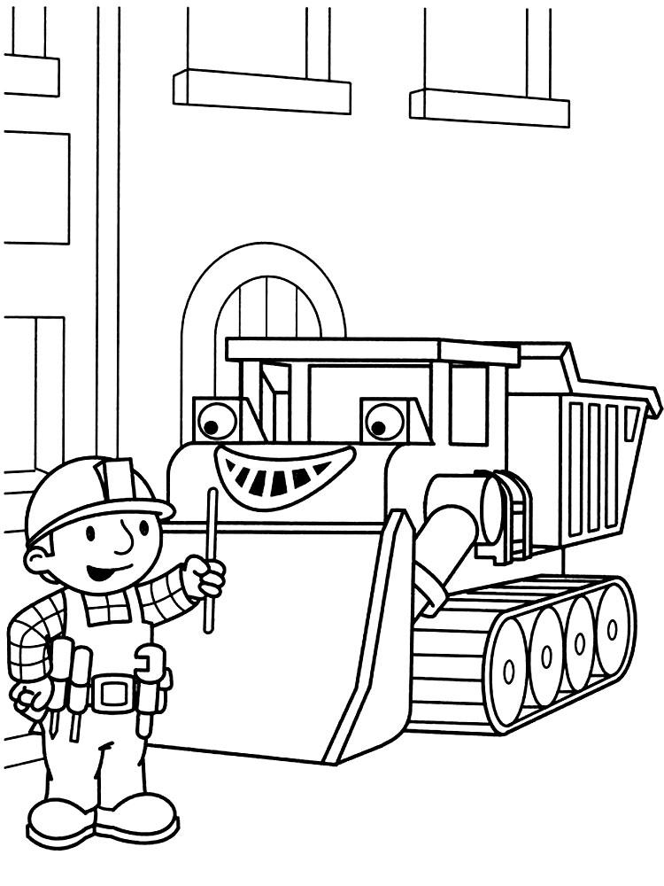 Раскраски строитель боб для мальчиков и девочек
