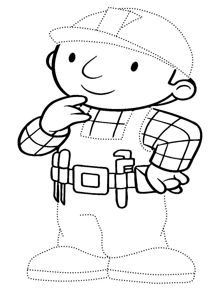 Детские раскраски боб строитель