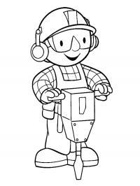 Черно-белые картинки боб строитель для развития детей