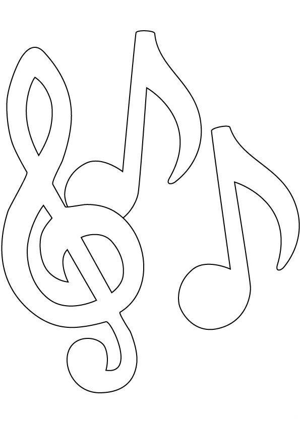 Раскраска разукрашка ноты музыкальные