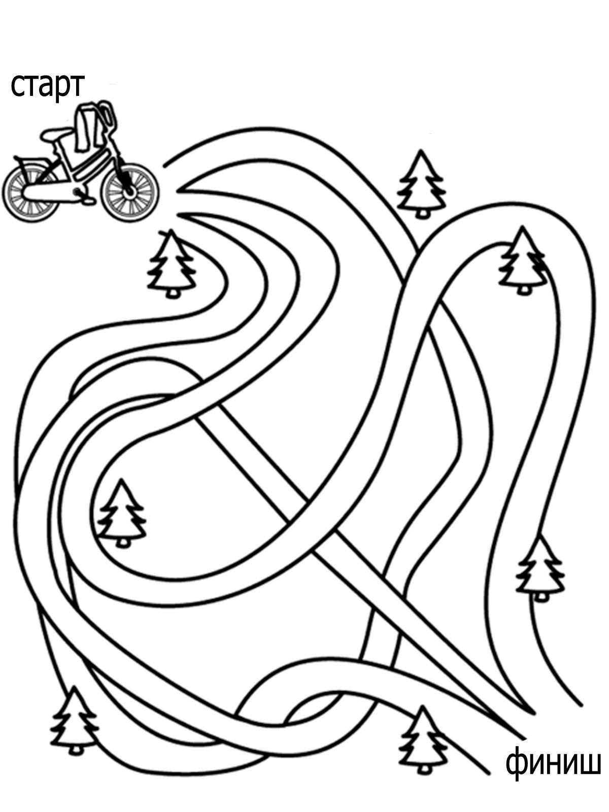 Раскраски лабиринт детская раскраска-лабиринт, доберись до финиша