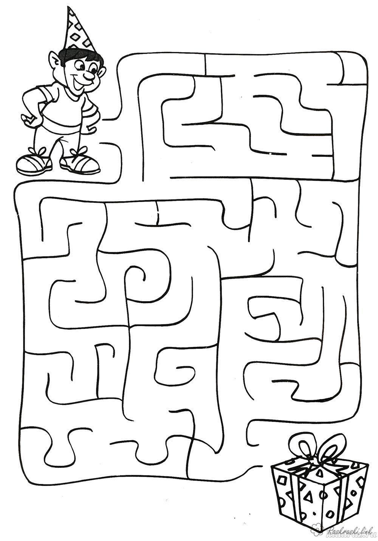 Раскраски лабиринт детская раскраска-лабиринт