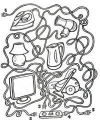 Раскраски лабиринт детская раскраска-лабиринт, распутай провода