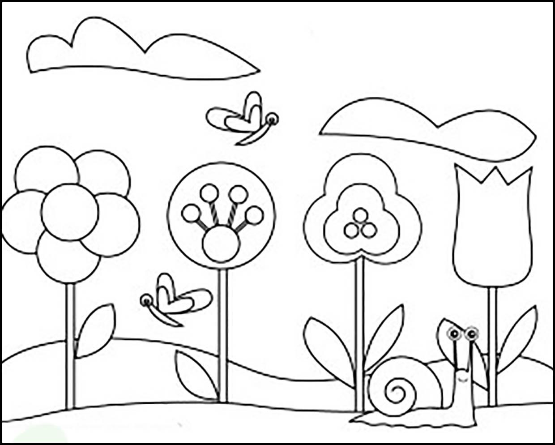 Раскраска весенний луг