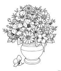 Раскраска ваза с цветами | раскраски скачать и распечатать бесплатно