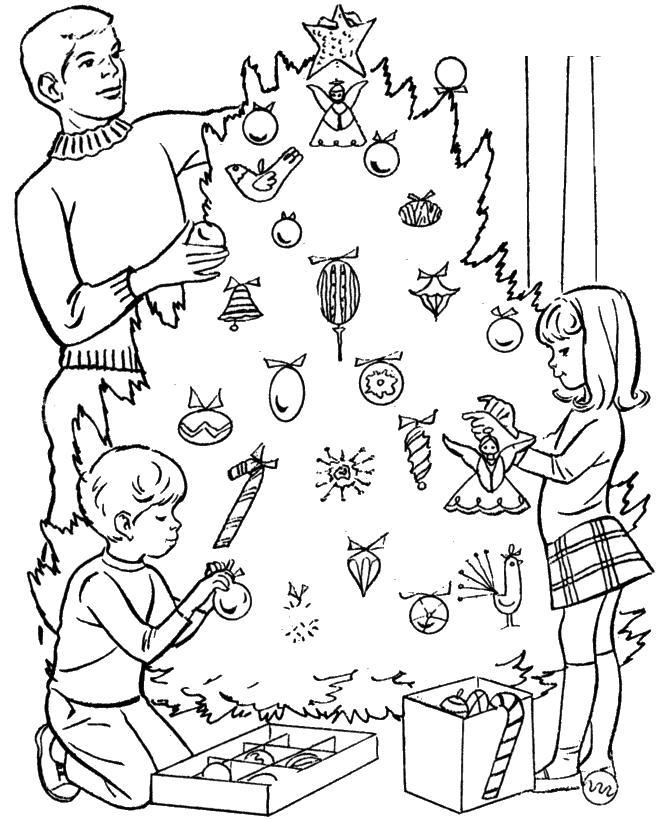 Рисунок празднования нового года