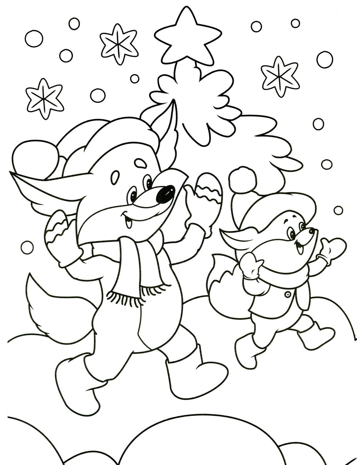 Раскраски зима для детей 3 лет