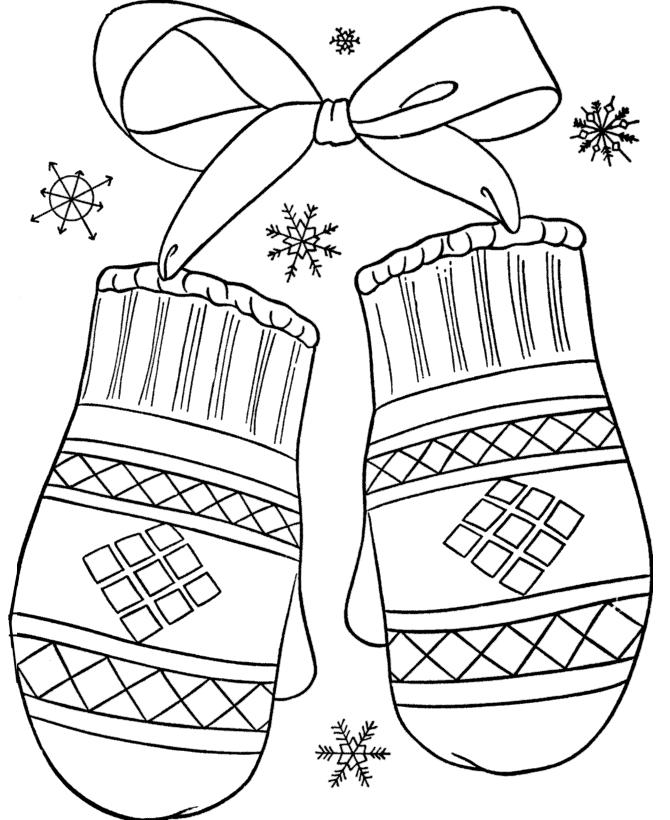 Расскраски зима