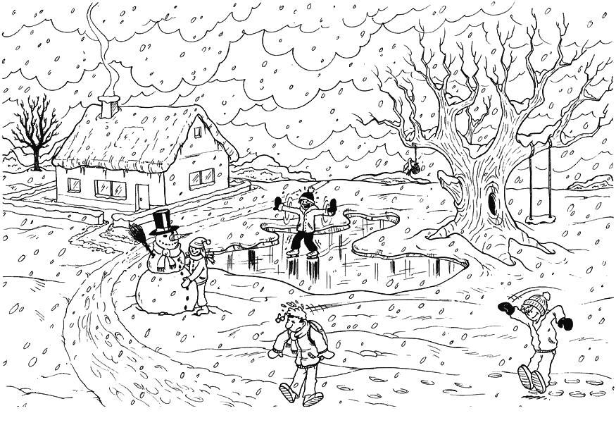 Раскраски для детей деревня 200