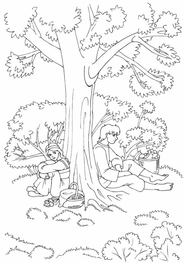 В лесу по грибы, парень с девушкой