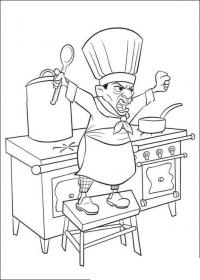 Раскраски посуда повар, рататуй, посуда, раскраска для детей, взбешенный повар