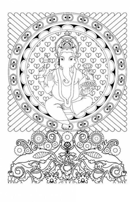 Боги индии, мандалы. мини-раскраска-антистресс