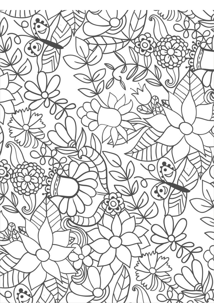 Бабочки на цветах, раскраски взрослые антистресс ...