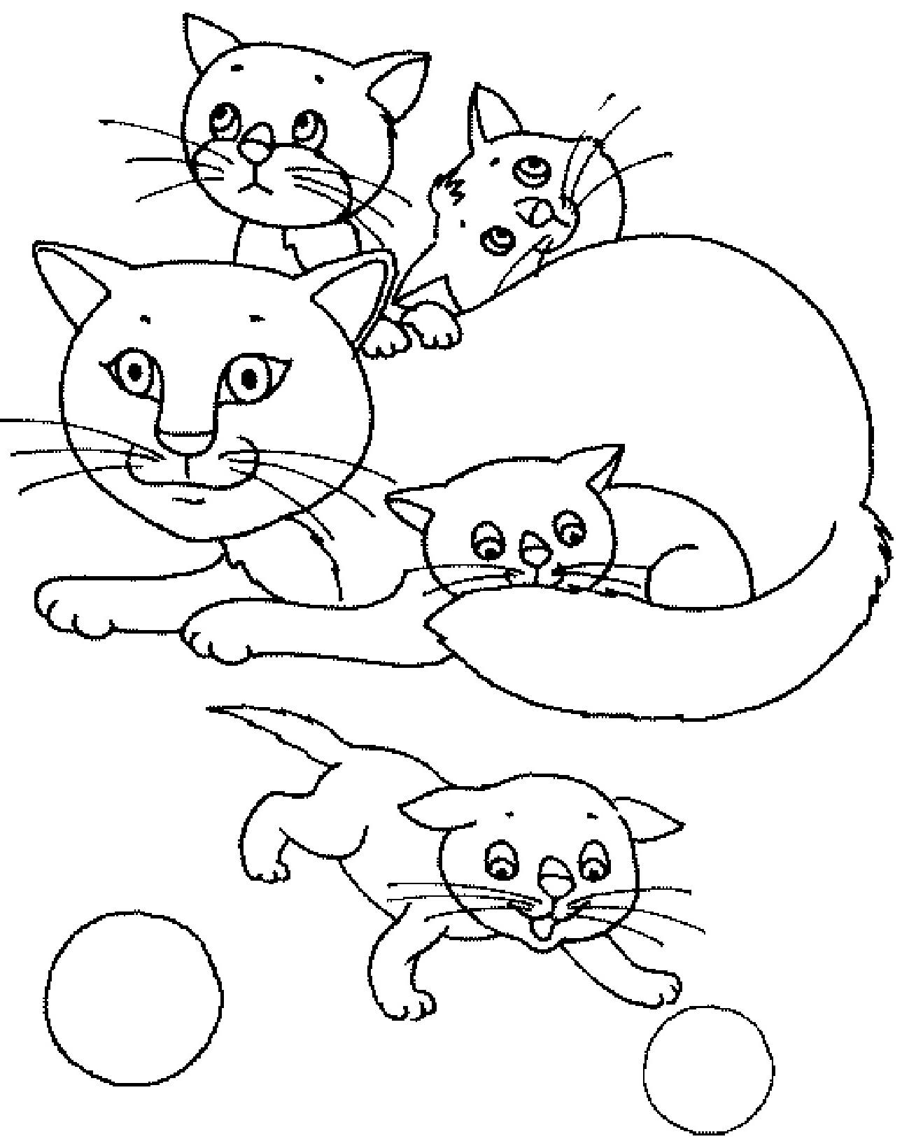 Картинки котят и кошек рисунки