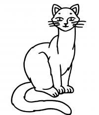 Распечатать бесплатные раскраски для детей: животные: кошки, котята