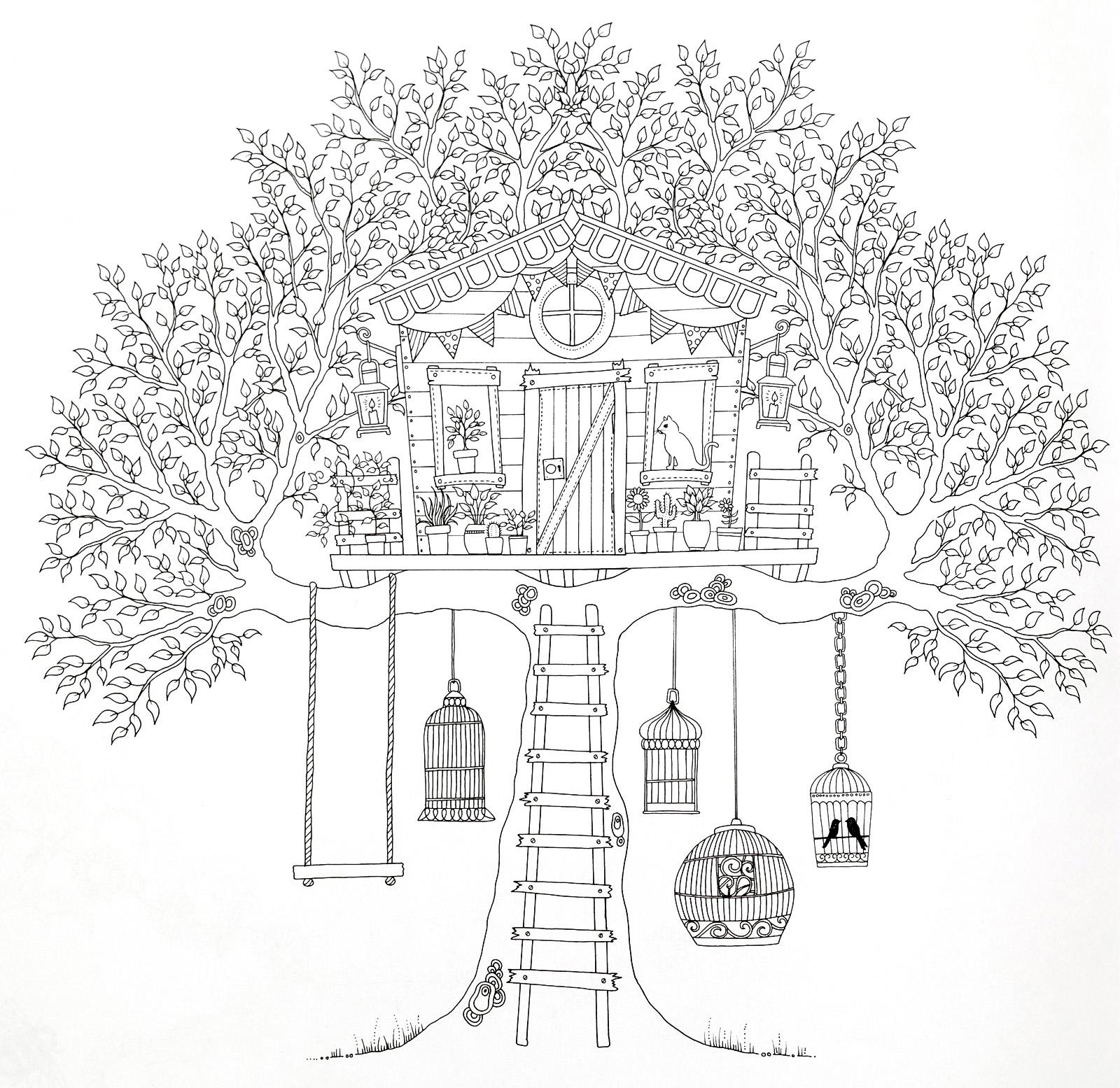 тех девушек, раскраска домик на дереве распечатать известным