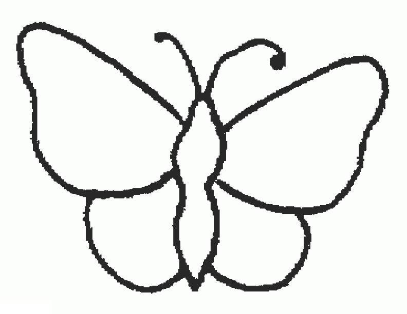 Раскраски для самых маленьких. бабочка