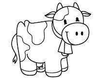 Распечатать раскраски для самых маленьких на принтере, корова