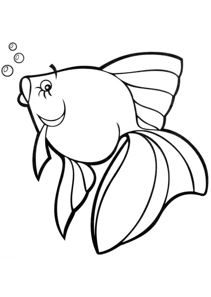 Картинки рыбок распечатать