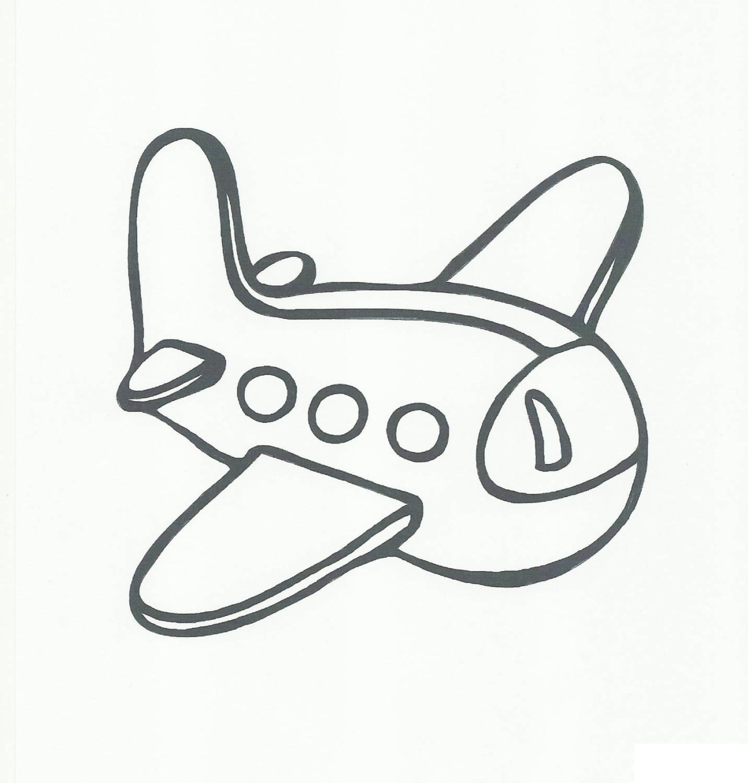 Раскраски простые раскраски для малышей самолет Игрушка