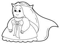 Раскраски для малышей скачать и распечатать, принцесса