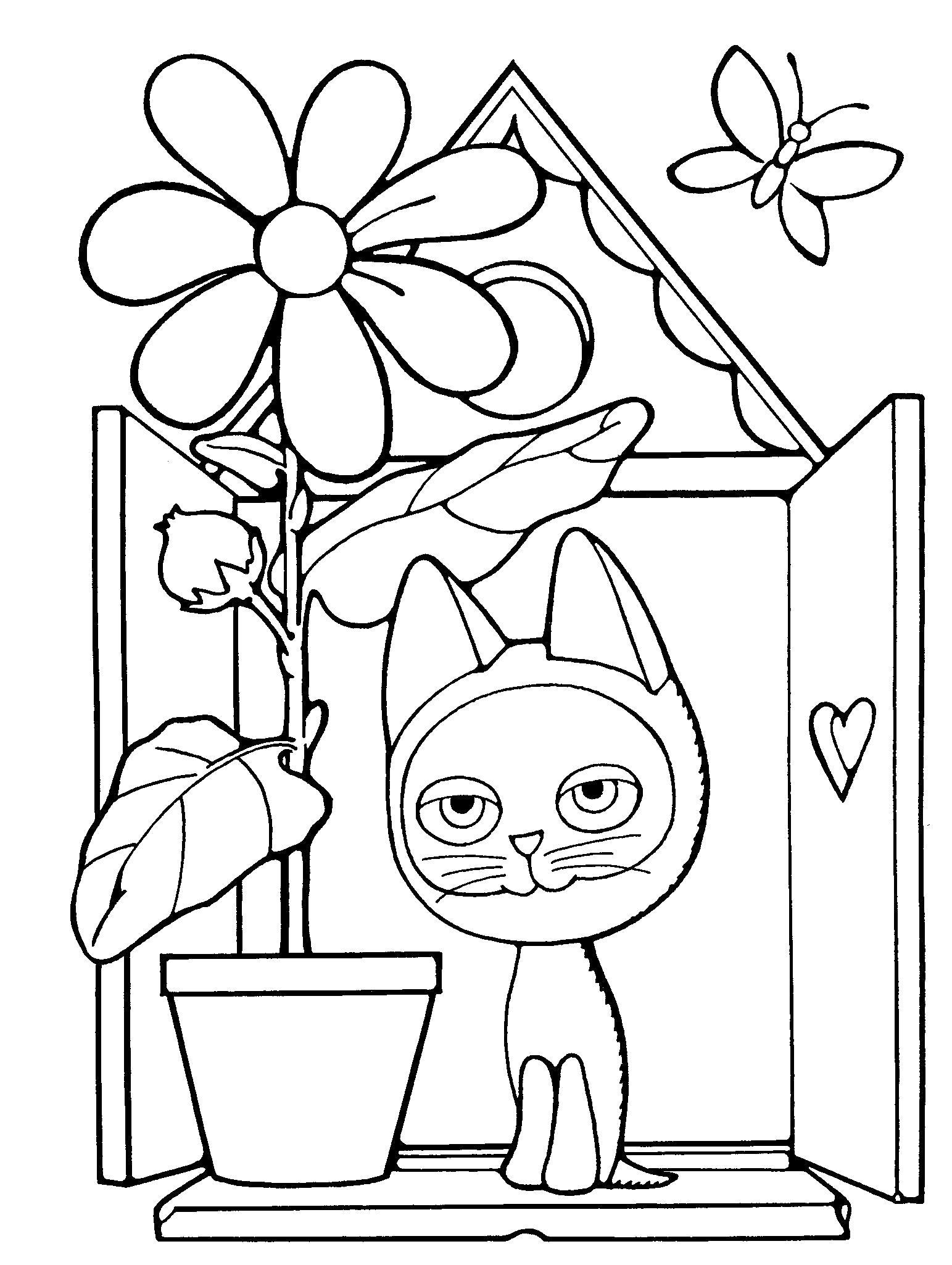 Котенок гав на окне