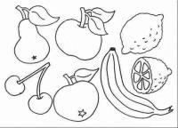 Скачать или распечатать раскраску распечатать скачать, груша, яблоко, лимон