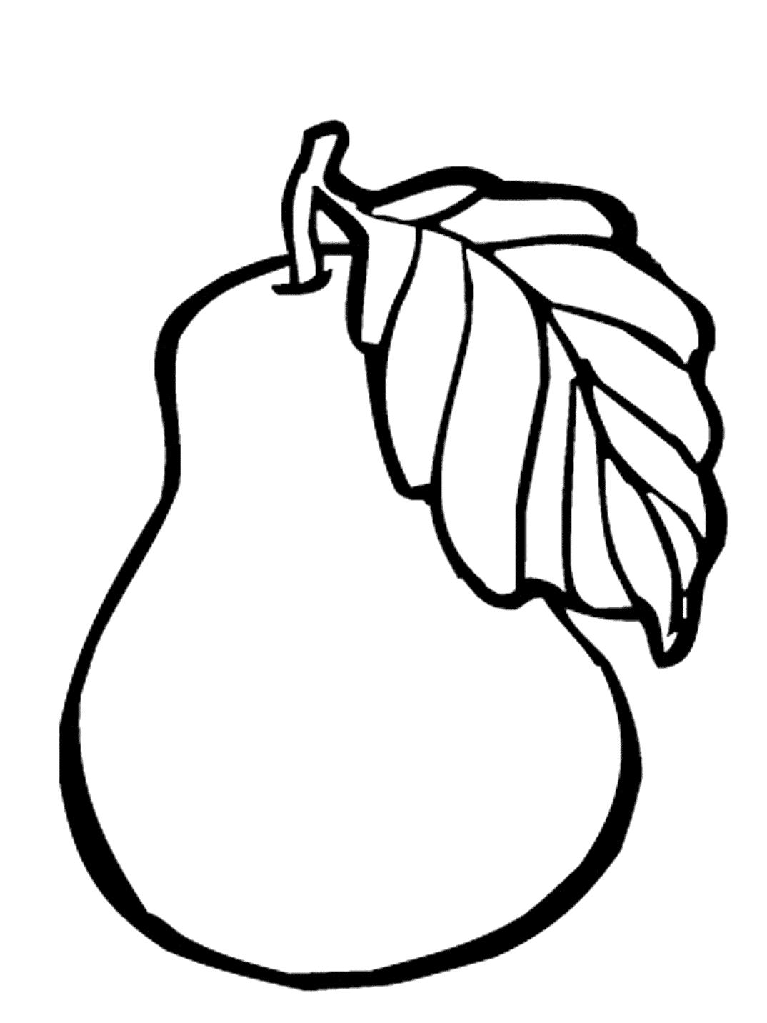 Раскраска груша. раскраска раскраска груша скачать, раскраски фрукты распечатать