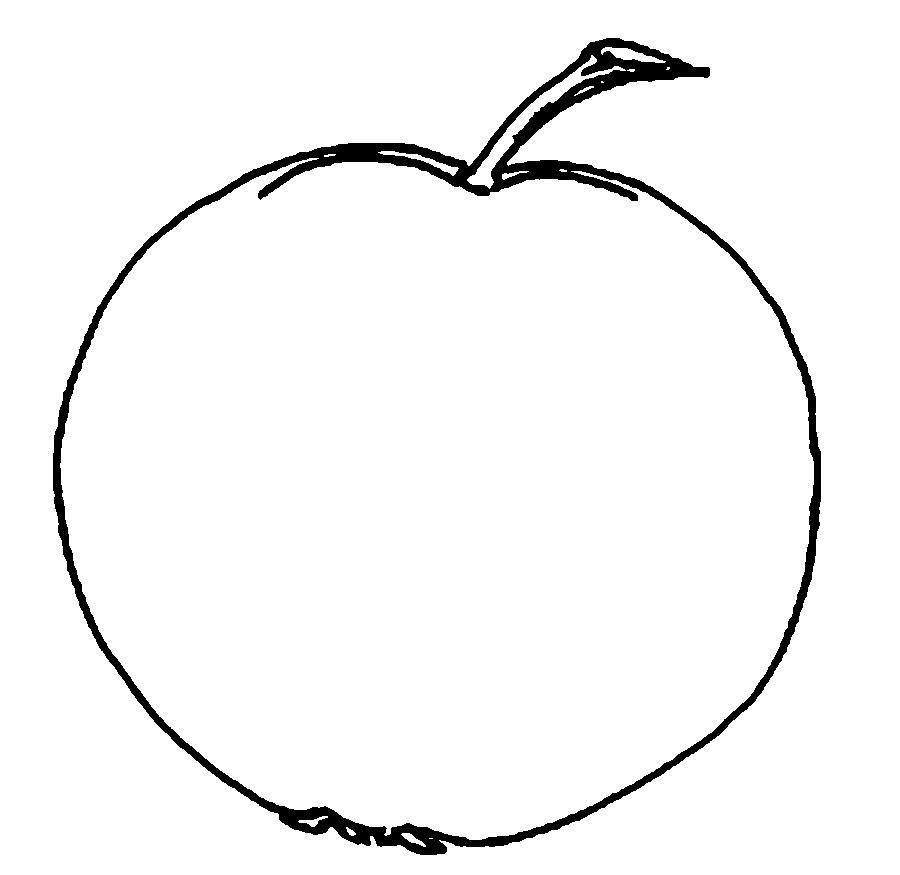 Раскраски фрукты и овощи фрукты контур для вырезания из бумаги