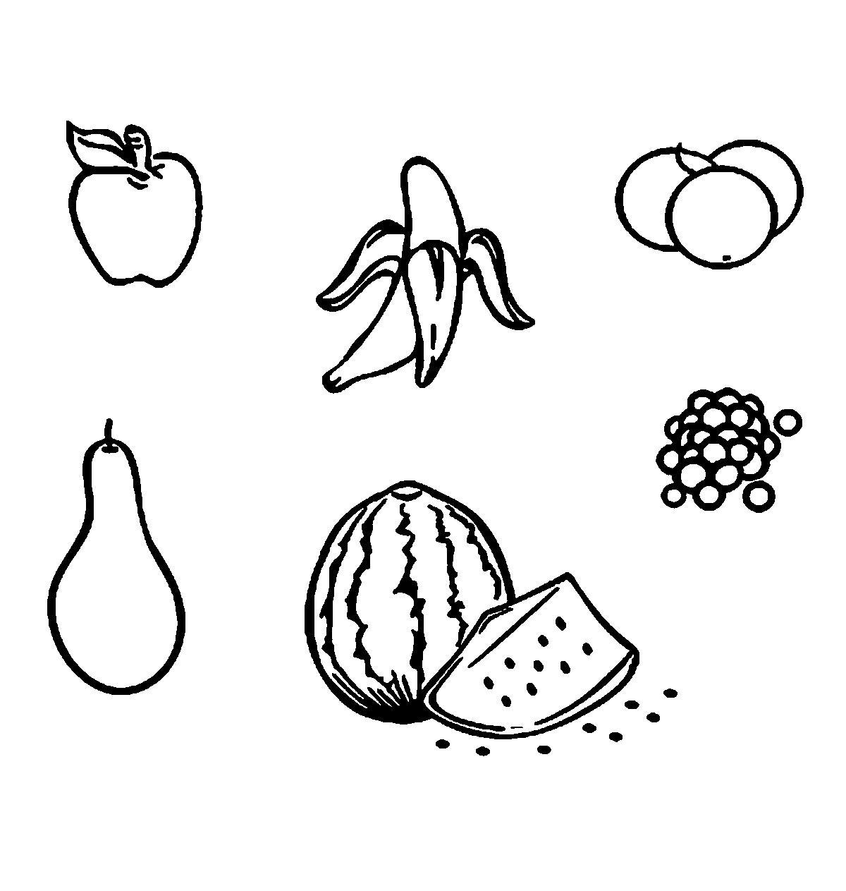 Раскраски фрукты и овощи фрукты контур, шаблон для вырезания из бумаги