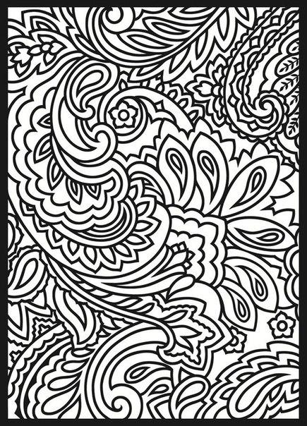 Раскраски антистресс, узор с цветами