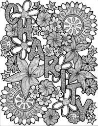 Раскраски для взрослых. очаровательные цветы
