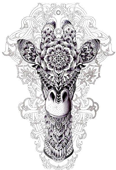 Раскраски антистресс, жираф абстракции животные