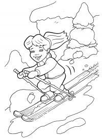 Спуск с горы. раскраски сказки дракона