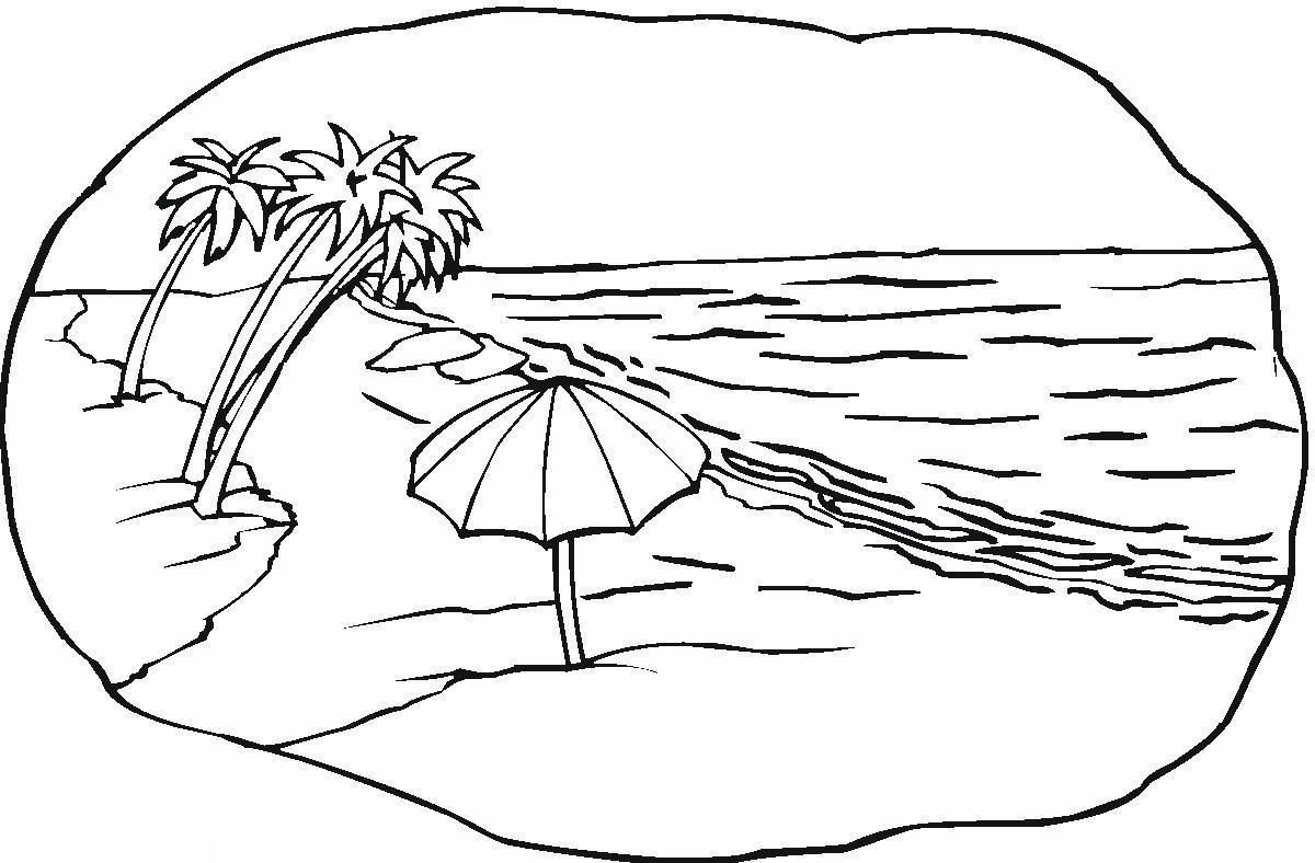 Раскраски природе детские раскраски, природа, отдых, отдых на природе, пальмы, пляж, море