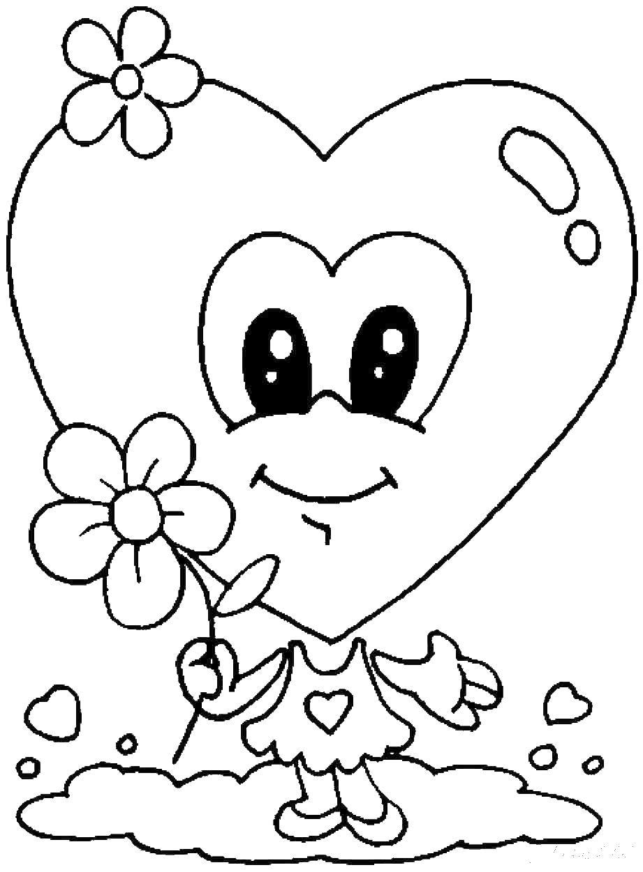 Рисунок день святого валентина раскраска