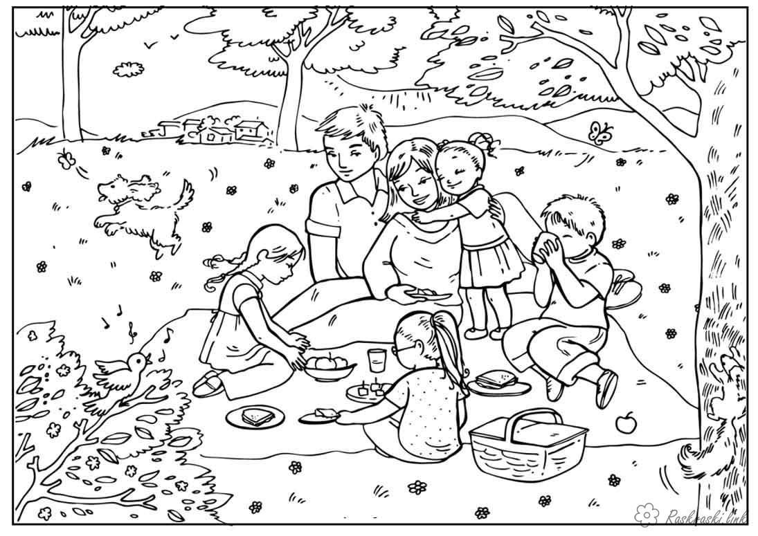 Раскраски лес детские раскраски, природа, отдых, отдых на природе, дети, лес