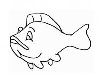Раскраска рыба детская