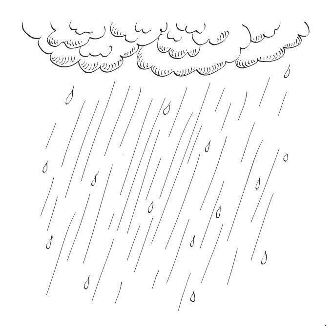 Раскраски дождь раскраски для детей, явления природы ...