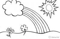 Раскраски радуга раскраски для детей, явления природы, природа, радуга, солнце