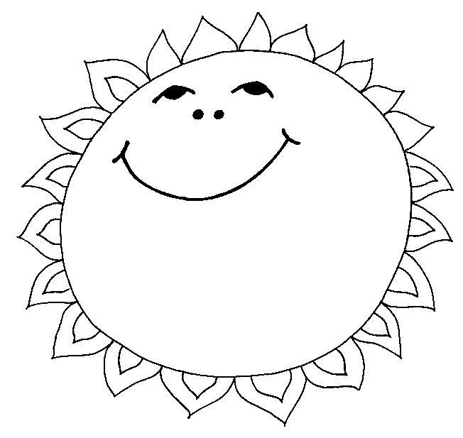 Раскраски солнце природа явления природы солнце солнечно
