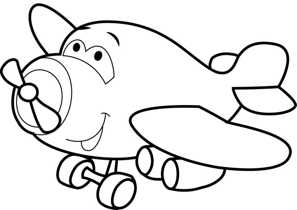 Раскраска для малышей скачать бесплатно, распечатать Самолет