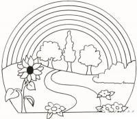 Раскраски года раскраска лето солнце радуга подсолнух цветы