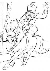 Лошадь с обезьяной