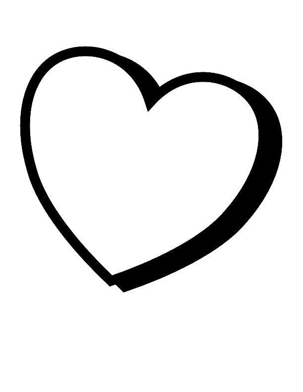 этого контуры сердечка картинки этого вам