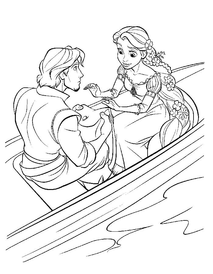 Раскраска любовь рапунцель и юджин Холодное сердце
