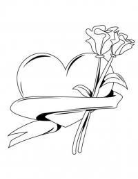 Раскраска валентинка печатать