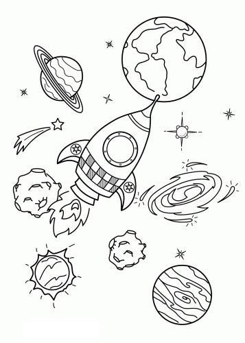 Космос разукрашка солнечная система