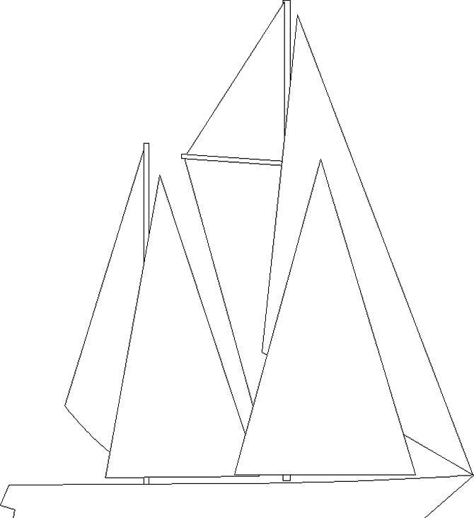Картинка лодки из геометрических фигур